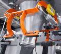 Maschine zur Abfüllung der fertigen Backmischung Fertigung im Gebinde der Wahl des Kunden-Betriebs